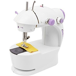 TAGORE Mini Multi Functional 4 in 1 Desktop Electric Household Portable Sewing Machine for Home Mini