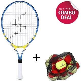 Spinway Mini Tennis Lightening Racket & Tennis Balls Stage 3 (Pack Of 12) -Combo Offer