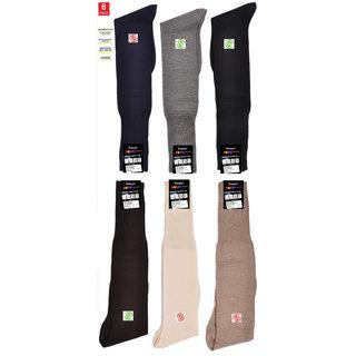 Mid-Calf Men's and Women's Cotton Fabrics Crew Cotton Socks Pack of 06