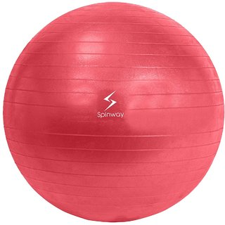Spinway Gym Ball Anti Burst 65 cm 1100 For professional Play Water resistant Gram Red