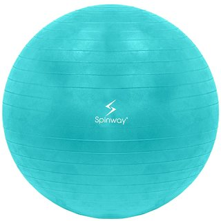 Spinway Gym Ball Anti Burst 75 cm 1300 Gram For professional Play Water resistant Green
