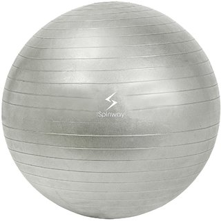 Spinway Gym Ball Anti Burst 75 cm 1300 gram For professional Play Water resistant Silver