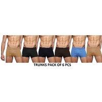 Mens Trunks Multi Colour Cotton Underwear (6 Pcs Of Pack) Mens Multi Colour Trunks (TH-GTR11090)