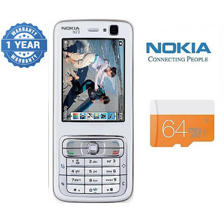 Nokia N73/ Good Condition/ Certified Pre Owned (1 Year Warranty) with 64GB Memory Card