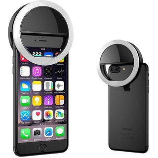 Rechargable night LED selfie ring flash light for all devices