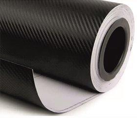 NAWAB 12x24 Inches 3D Black Carbon Fiber Vinyl Car Wrap Sheet Roll Film Sticker Decal For Car  Bike Both