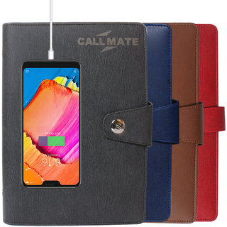 CallMate Power Bank With Diary 10000mAH with 1 USB Port and LED Battery Indicator - ASH