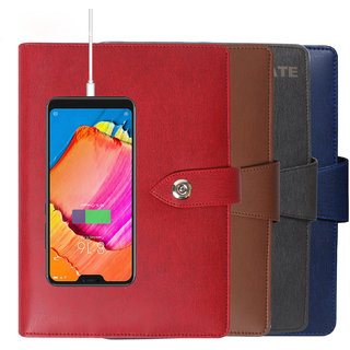 CallMate Power Bank With Diary 10000mAH with 1 USB Port and LED Battery Indicator - ROUGE