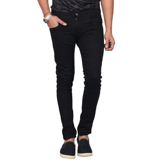 Waiverson Slim Fit Men's Black Stretchable Jeans