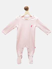 First Kick Pink Cotton  Romper