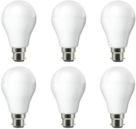 NIPSER 9 Watt Premium Led Bulbs 900 lumens pack of 6 with 1 year warranty