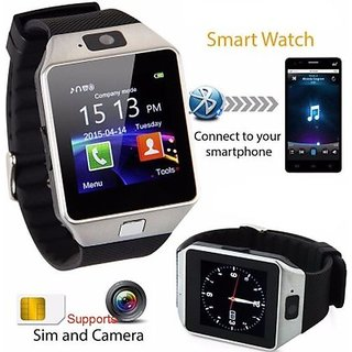 DZ09 with SIM card, 32GB memory card slot, Bluetooth and Fitness Tracker Smartwatch  (Black Strap)