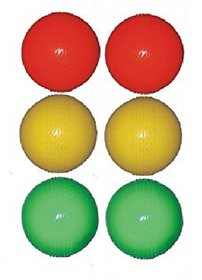 Parbat Multi Color Pvc Cricket Wind Ball (pack of 6)