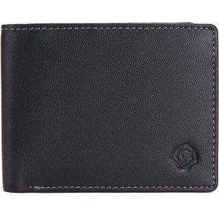 LEO TORRESI Ultra Slim Genuine   Nappa Leather Men's Bi-fold  Wallet, Black