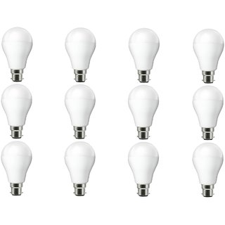 NIPSER 7 Watt Premium Led Bulbs 800- 1000 lumens (Pack of 12) with 1 year warranty