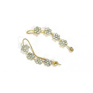 White stone Golden Kaan Earrings