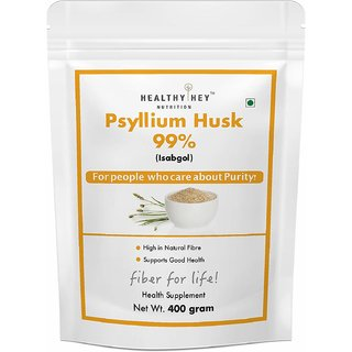 HealthyHey Nutrition Psyllium Husk 99% - Fibre Support - 400 gram