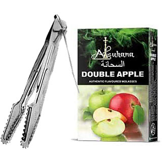 SCORIA Alsuhana Double Apple Premium Quality Assorted Hookah Flavour/Molasses Flavours with Premium Quality, Stainless Steel Tong-Hookah Accessory for Shisha Hookah, Hookah Charcoal (Combo Pack of 2)
