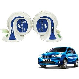 Auto Addict Mocc Car 18 in 1 Digital Tone Magic Horn Set of 2 For Toyota Etios Liva