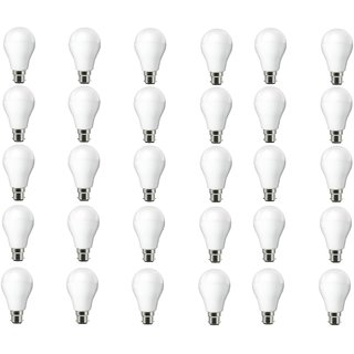 NIPSER 9 Watt Premium Led Bulbs 900 lumens (Pack of 30) with 1 year warranty