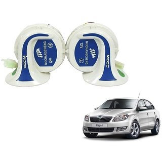 Auto Addict Mocc Car 18 in 1 Digital Tone Magic Horn Set of 2 For Skoda Rapid