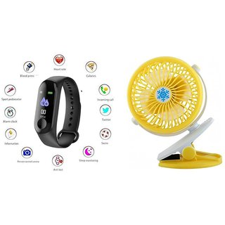 M3 fitness band and Clip Fan|Smart phones compatiable fitness band|| Heart rate band||Health Watch|| Calories Tracker Band|| Step Count Band||fitness tracker|| bluetooth smart band ||Wrist Watch band|| smart band ||With Alarm System||Best in Quality