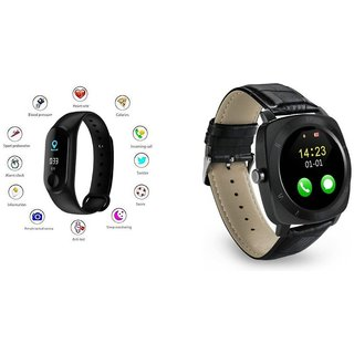 M3 fitness band and X3 Smart WatchSmart phones compatiable fitness band Heart rate bandHealth Watch Calories Tracker Band Step Count Bandfitness tracker bluetooth smart band Wrist Watch band smart band With Alarm SystemBest in Quality