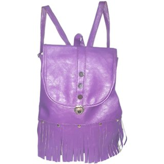 Women's Leather Students School Backpack Bags.