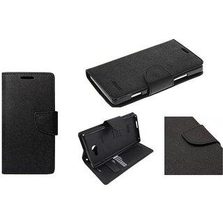 Mercury Goospery Fancy Diary Wallet Flip Cover for VIVO V5 -Black