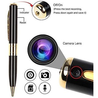 HD Quality Video/Audio Hidden Recording, Hd Sound Clarity Pen Camera with Memory Card Inserting Facility