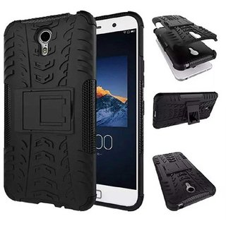 TBZ Tough Heavy Duty Shockproof Armor Defender Dual Protection Layer Hybrid Kickstand Back Case Cover for Lenovo ZUK Z1 -Black