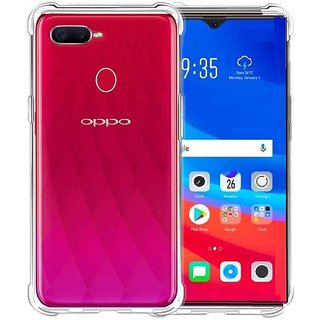 TBZ TPU Transparent Bumper Corner TPU Case Cover for Oppo F9 Pro
