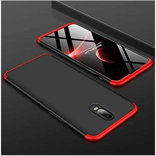 TBZ Ultra-thin 3-In-1 Slim Fit Complete 360 Degree Protection Hybrid Hard Bumper Back Case Cover for OnePlus 6T -Black