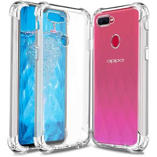 TBZ Soft Silicone Bumper Transparent Back Cover for Oppo A7