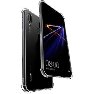 TBZ Soft Side Bumper Transparent Back Cover for Huawei Honor 8X