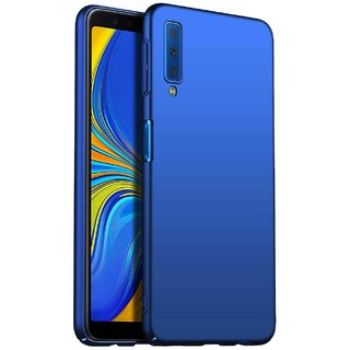 TBZ Protection Hard Back Case Cover for Samsung Galaxy A7 (2018) -Blue