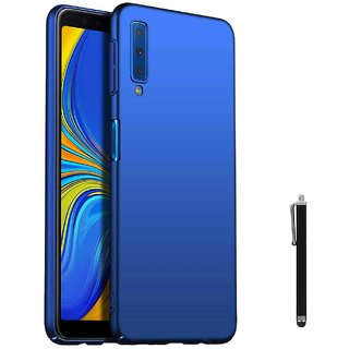 TBZ All Sides Protection Hard Back Case Cover for Samsung Galaxy A7 (2018) with Stylus -Blue