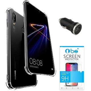 TBZ Transparent Bumper Corner TPU Case Cover for Huawei Honor 8X with Car  Charger and Tempered Screen Guard