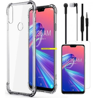 Buy TBZ Soft Case Cover for Asus Zenfone Max Pro M2 with Earphone and Tempered Screen Guard Online - Get 63% Off