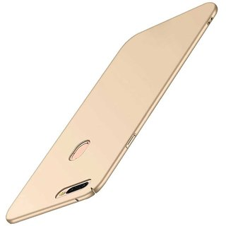TBZ Protection Hard Back Case Cover for Oppo F9 Pro -Golden