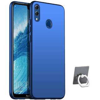 TBZ All Sides Protection Hard Back Case Cover for Huawei Honor 8X with  Mobile Ring Holder -Blue