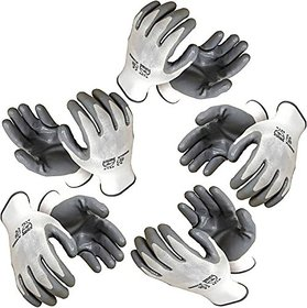 Green Home Nylon Industrial Safety Hand Gloves (Pair 5)
