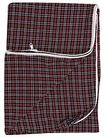 HomeStore-YEP Cotton Single Bed Mattress Protector with Zip (72x36x5-inch, Multicolor) -1 Pc