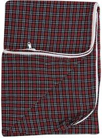 HomeStore-YEP Cotton Single Bed Mattress cover with Zip (72x36x5-inch, Multicolor) -1 Pc