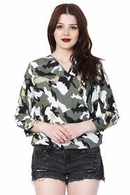 MALLORY WINSTON Camouflage Women Crop Top.(MW189)