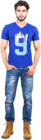 TORCS Men's V Neck Tshirt Royal BlueATVHS1050RoyalBlueS