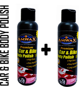 Amwax Premium White Car and Bike Body Polish 120ML Pack of 2