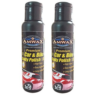 Amwax Premium White Car and Bike Styling Body Polish 120ML Pack of 2