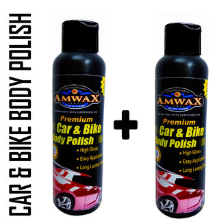 Amwax Premium White Car and Bike Styling Body Polish 120ML Pack of 2