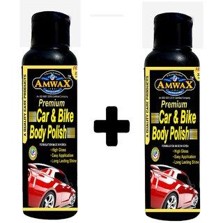 Amwax Premium White Car and Bike Body Polish 120ML Pack of 2